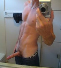 Fit Guy Show Hard Dick