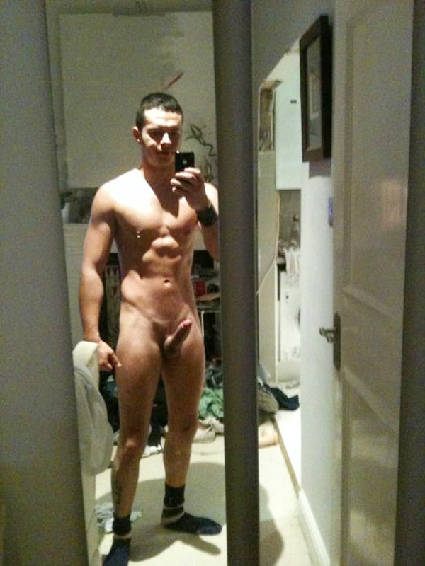 Standing Naked In Front Of A Big Mirror
