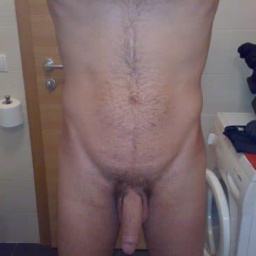 Twink Showing Off His Long Cock