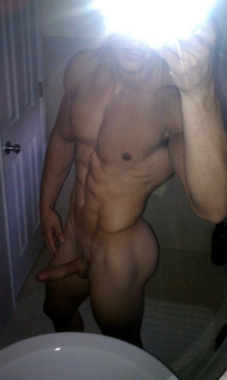 Muscle Boy With A Perfect Cock And Boned Up Dick