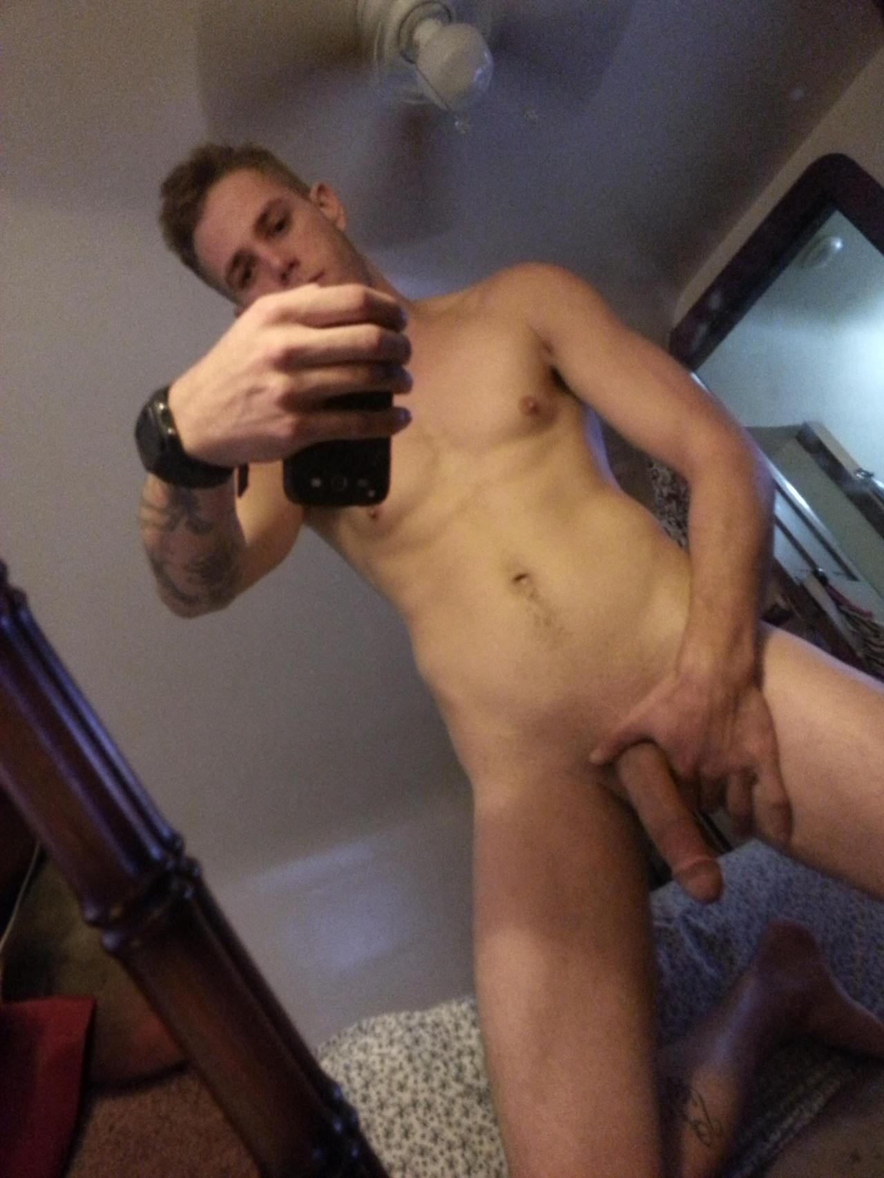 Nude gay boy with a really long cock