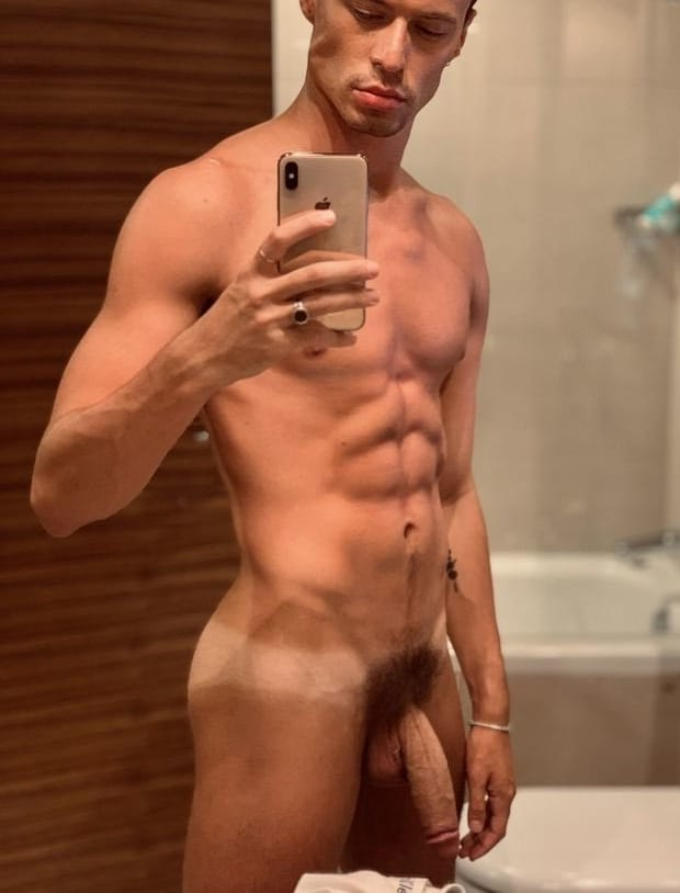 Nude stud with a big cock